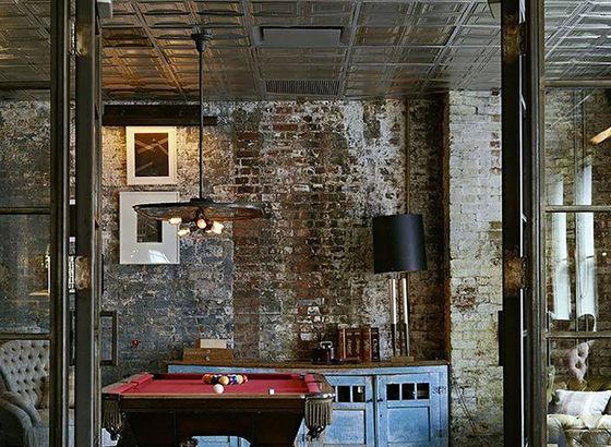 Soggiorni stile industriale idee per il design della casa for Arredamento industriale