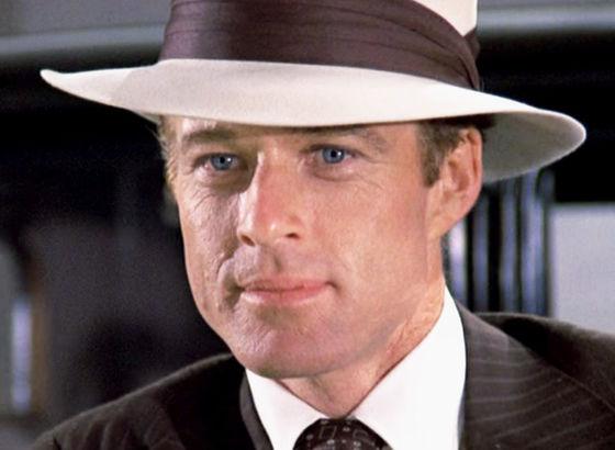 Robert Redford nel ruolo di Gatsby nella versione del 1974