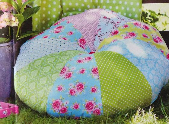 pouf di patchwork