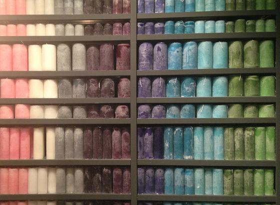 Candele in ogni colore e misure