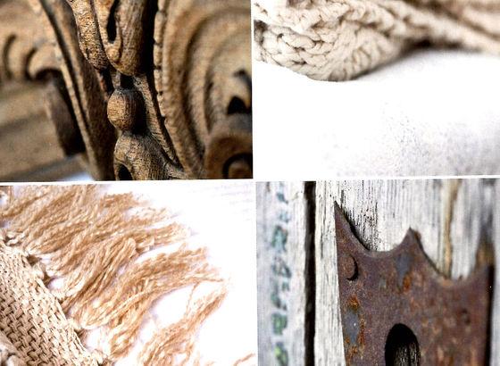 Stile grezzo materiali