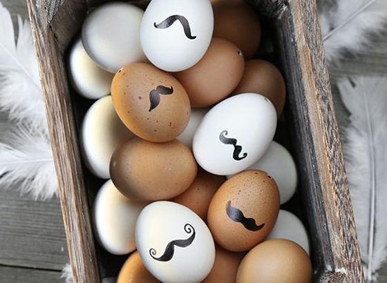 Uova con i baffi del mio marito