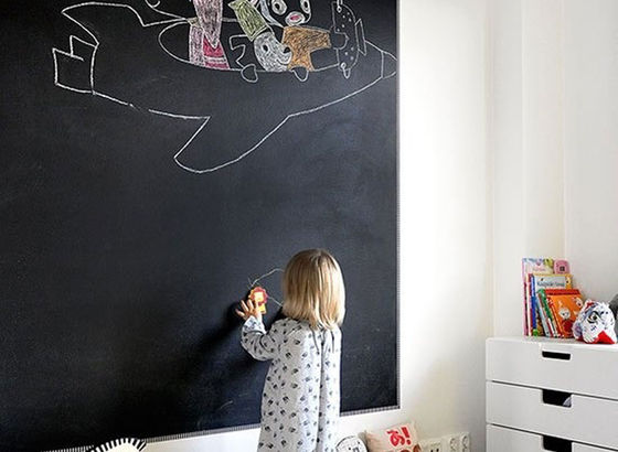 Color lavagna stanza dei bambini