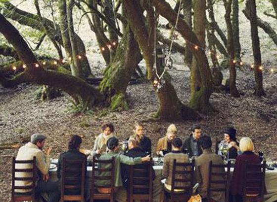Ceniamo nella stanza dei alberi